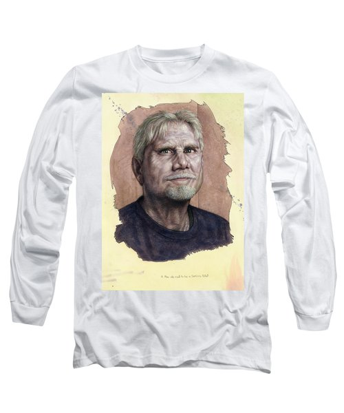 Long Sleeve T-Shirt featuring the painting A Man Who Used To Be A Serious Artist by James W Johnson