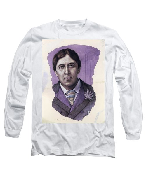 Long Sleeve T-Shirt featuring the painting A Man Who Used To Be A Warrior by James W Johnson