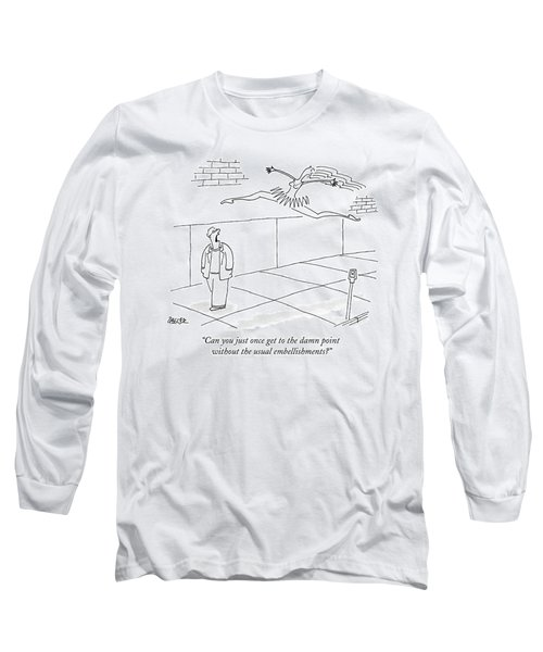 A Man Yells At A Leaping Ballerina In The Street Long Sleeve T-Shirt