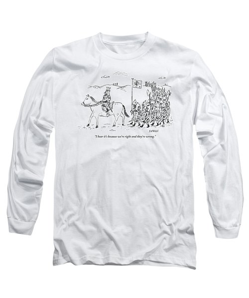 A Medieval Army Leaves A Castle On Foot Led Long Sleeve T-Shirt
