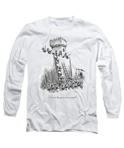 A Medieval Soldier Climbing A Ladder To The Top Long Sleeve T-Shirt