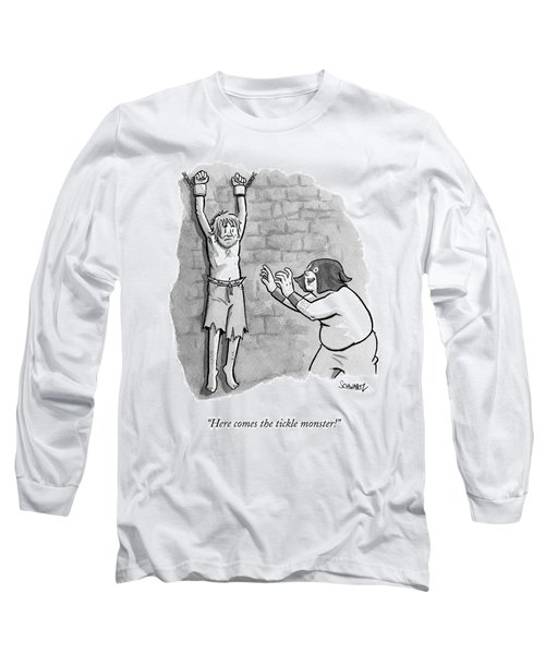 A Medieval Torturer Approaches A Hanging Long Sleeve T-Shirt
