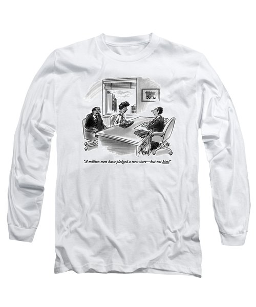 A Million Men Have Pledged A New Start - But Long Sleeve T-Shirt