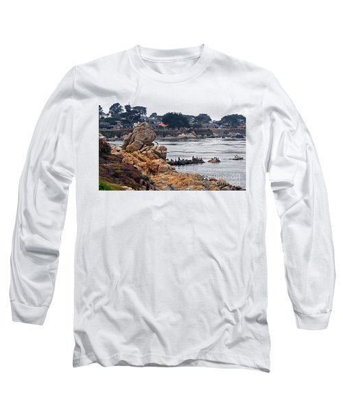Long Sleeve T-Shirt featuring the photograph A Misty Day At Pacific Grove by Susan Wiedmann