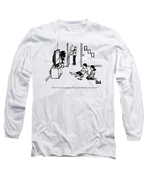 A Mother, Cooking In The Kitchen, Hollers Long Sleeve T-Shirt