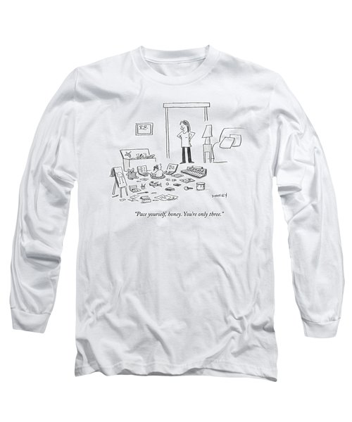 A Mother Talks To Her Toddler Daughter Long Sleeve T-Shirt