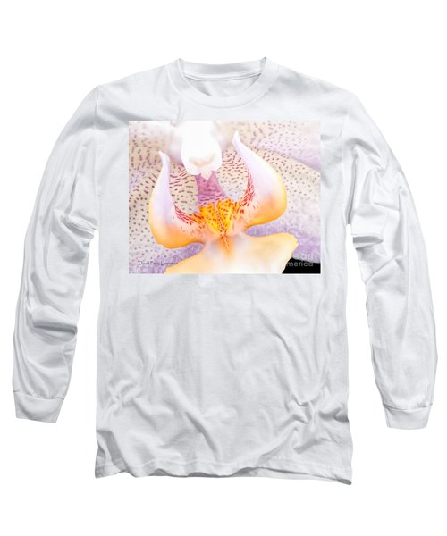 A Neighbors Orchid Long Sleeve T-Shirt by David Perry Lawrence
