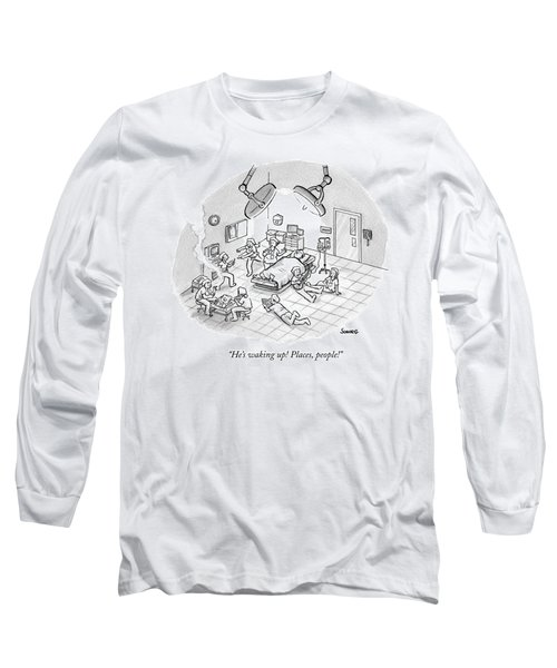 A Patient Sleeps In A Hospital Room Long Sleeve T-Shirt