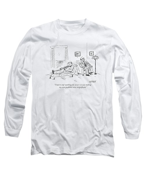 A Patient Talks To His Therapist Long Sleeve T-Shirt