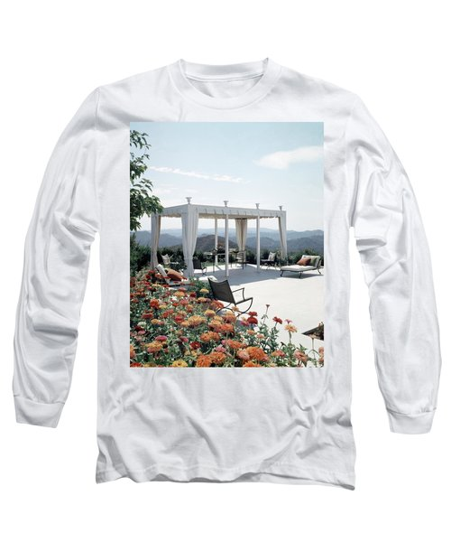 A Pavilion In The Backyard Of Bruce Macintosh's Long Sleeve T-Shirt