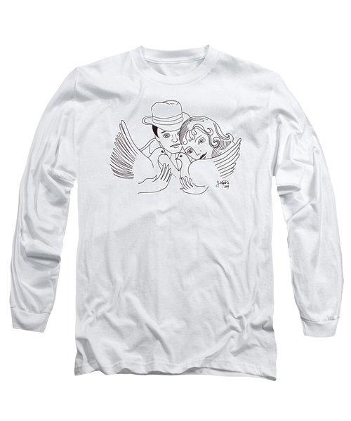 A Peaceful Gathering Long Sleeve T-Shirt by John Keaton
