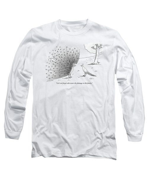 A Peacock With A Massive Coat Yells Long Sleeve T-Shirt