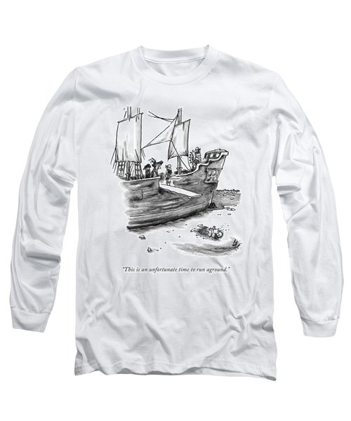 A Pirate Shit Stuck On Land Long Sleeve T-Shirt