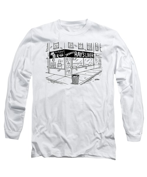 A Pizza Place With A Huge Sign And Logo.  A Pizza Long Sleeve T-Shirt