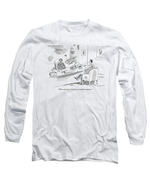 A Politician Holds A Meeting With A Colleague. An Long Sleeve T-Shirt