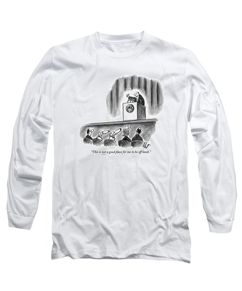 A Politician Irritates A Dog In The Audience Long Sleeve T-Shirt
