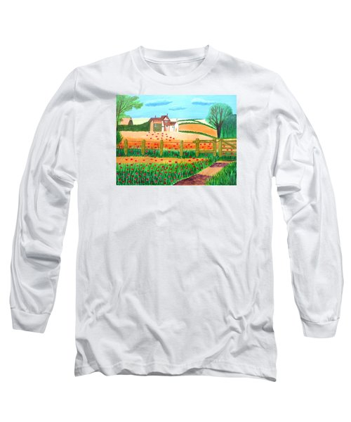 A Poppy Field Long Sleeve T-Shirt by Magdalena Frohnsdorff