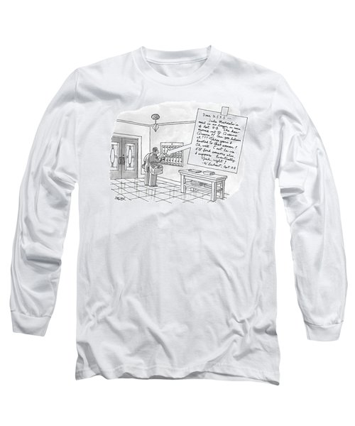 A Postman Reads A Letter Left Long Sleeve T-Shirt