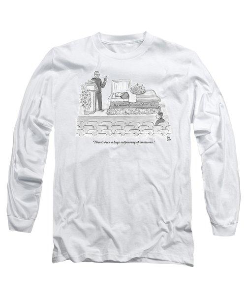 A Preacher Presiding Over A Funeral Is Looking Long Sleeve T-Shirt
