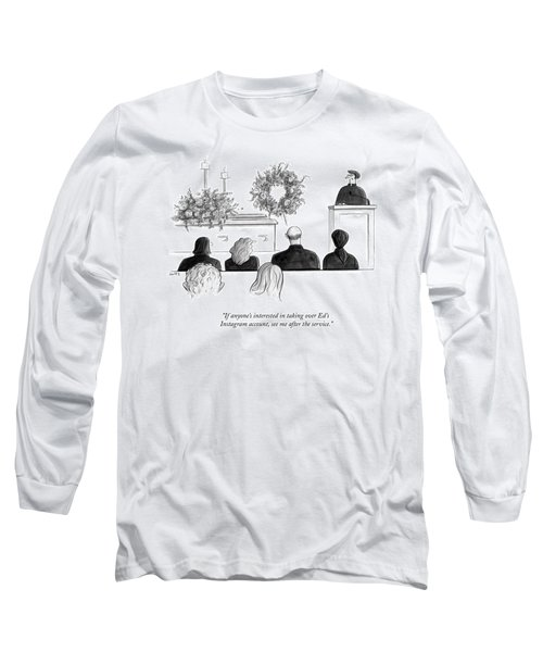 A Priest Makes A Eulogy Long Sleeve T-Shirt