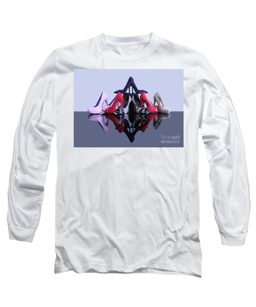 Long Sleeve T-Shirt featuring the photograph A Pyramid Of Shoes by Terri Waters