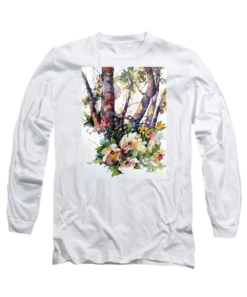 Long Sleeve T-Shirt featuring the painting A Quiet Place by Rae Andrews