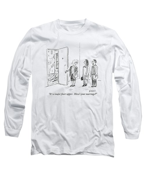 A Real Estate Agent Addresses A Couple Long Sleeve T-Shirt