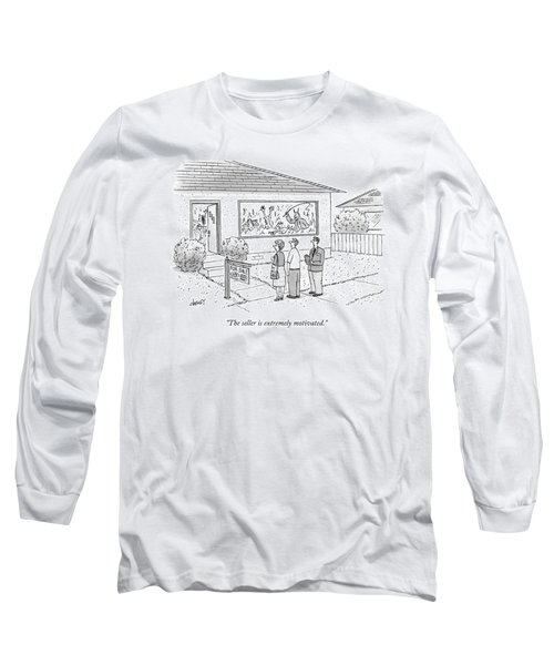 A Realtor Speaks To A Couple About A House Long Sleeve T-Shirt