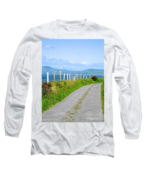 Long Sleeve T-Shirt featuring the photograph A Road To Waterville by Suzanne Oesterling
