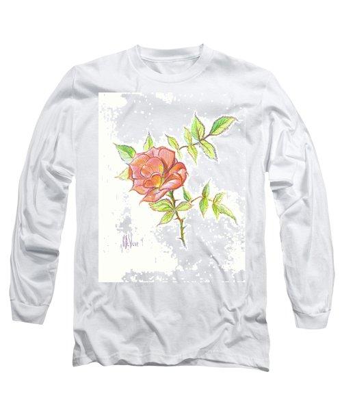 A Rose In Brigadoon Long Sleeve T-Shirt by Kip DeVore