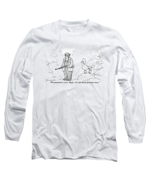 A Rough-looking Man Holding A Shotgun Speaks Long Sleeve T-Shirt
