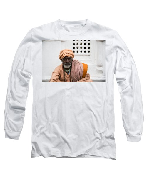 A Sadhu During Shivaratri Festival In Kathmandu Long Sleeve T-Shirt