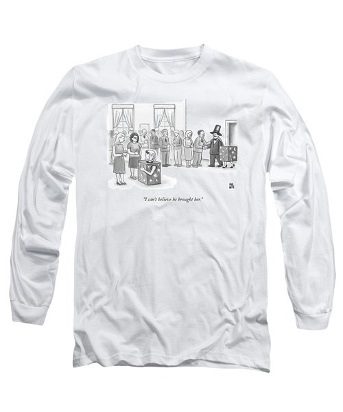 A Sawed-in-half Magician's Assistant Scowls Long Sleeve T-Shirt