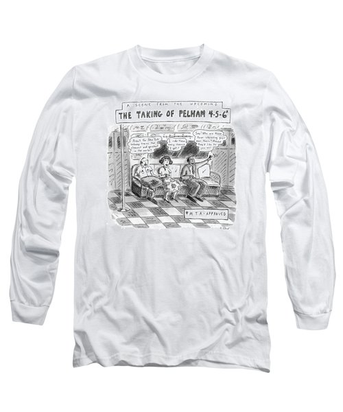 A Scene From The Upcoming The Taking Of Pelham Long Sleeve T-Shirt