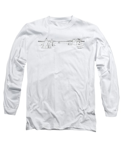 Teepees And Pencil Sharpener Long Sleeve T-Shirt
