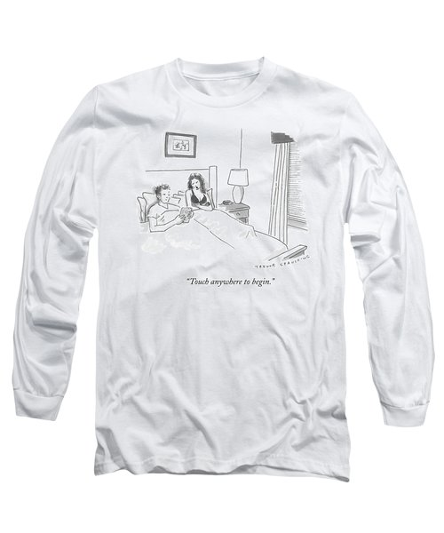A Sexually Frustrated Wife In Bed Speaks Long Sleeve T-Shirt