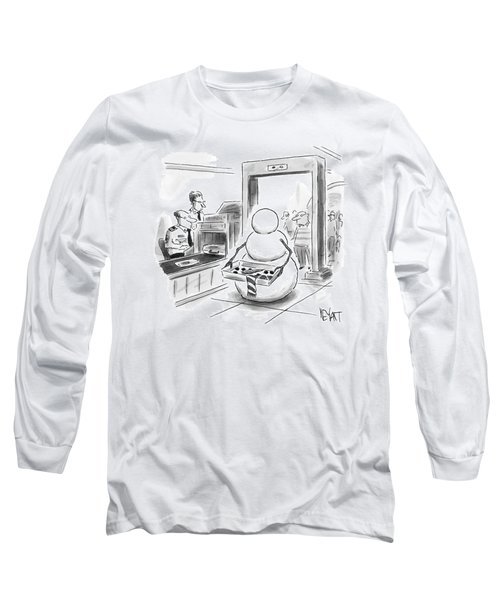 A Snowman Goes Through Airport Security Long Sleeve T-Shirt