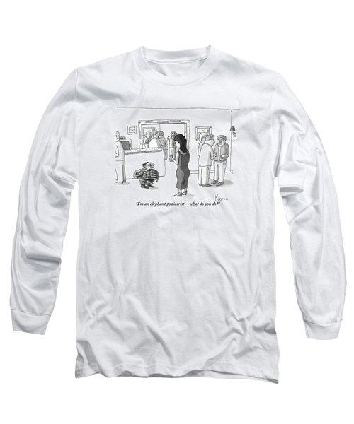 A Squashed, Accordion-like Man Speaks Long Sleeve T-Shirt