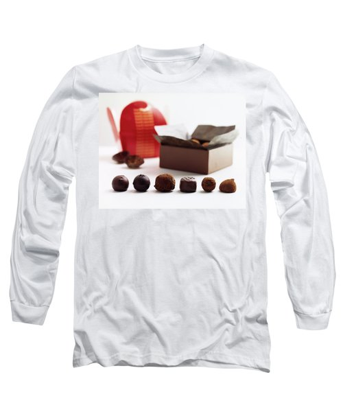 A Still Life Photo Of Gourmet Chocolates Long Sleeve T-Shirt