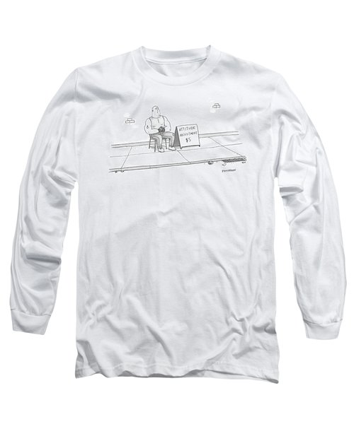 A Strong Man With A Tattoo Of An Anchor Long Sleeve T-Shirt
