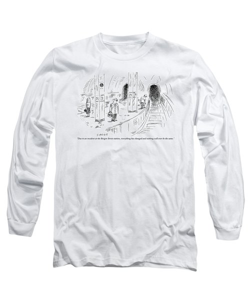A Subway Rider Hears A Subway Announcement Long Sleeve T-Shirt
