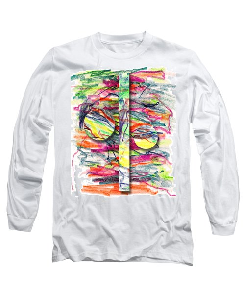 Long Sleeve T-Shirt featuring the drawing A Summers Day Breeze by Peter Piatt