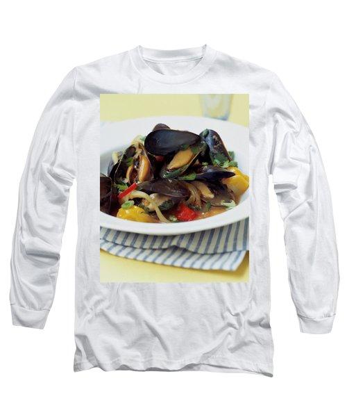 A Thai Dish Of Mussels And Papaya Long Sleeve T-Shirt