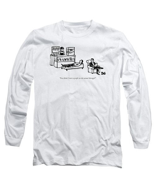 A Therapist's Office With A Concession Stand Long Sleeve T-Shirt