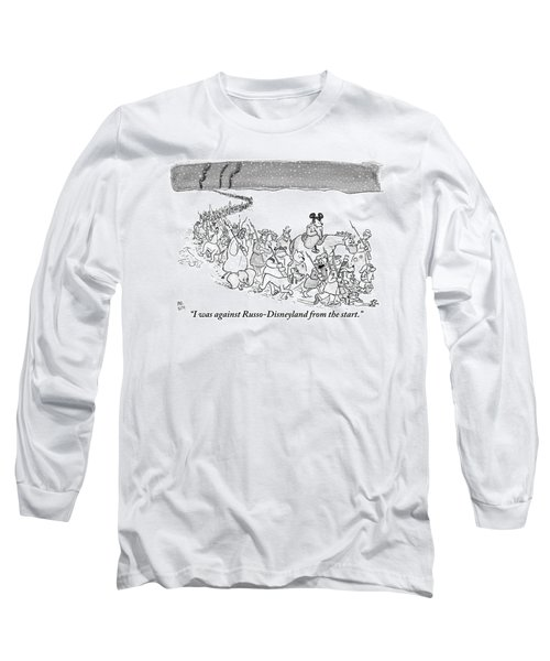 A Trail Of People And Disney Characters March Long Sleeve T-Shirt