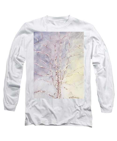 A Tree In Winter Long Sleeve T-Shirt by Vickie G Buccini