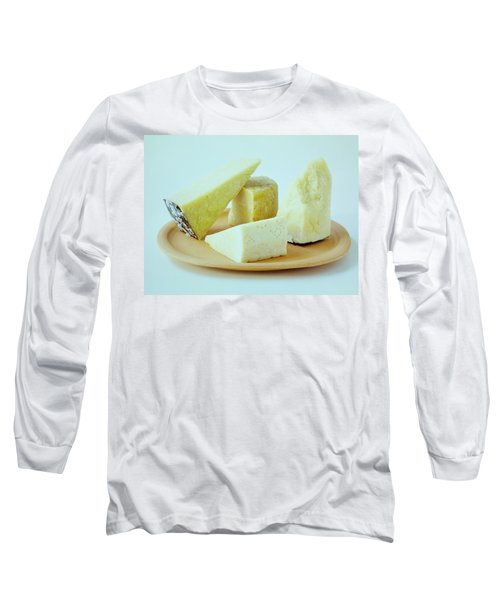 A Variety Of Cheese On A Plate Long Sleeve T-Shirt