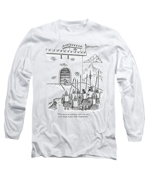 A Viking Army Stands Before A Castle Gate Where Long Sleeve T-Shirt