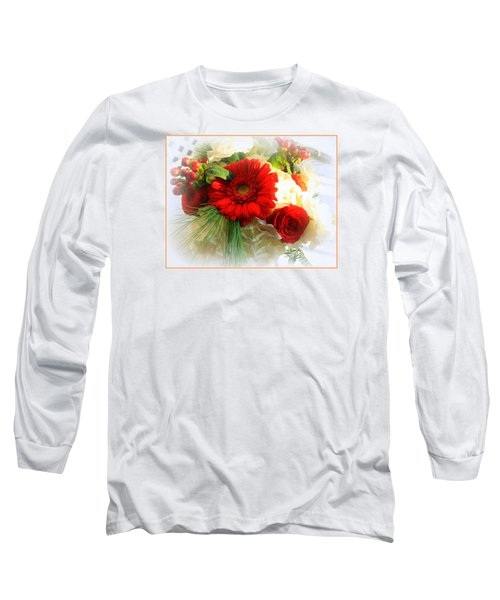 A Vision In Red Long Sleeve T-Shirt by Dora Sofia Caputo Photographic Art and Design
