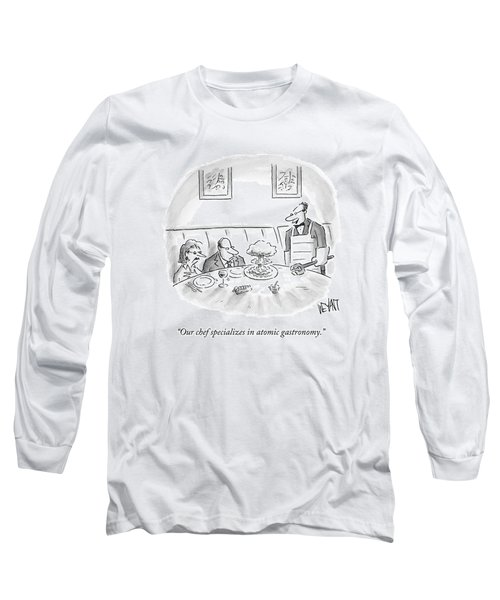 A Waiter Served A Man A Plate Of Food That Long Sleeve T-Shirt